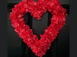 Венок ко дню святого валентина своими руками