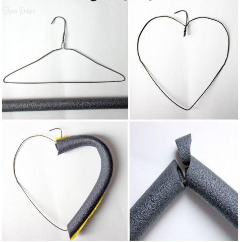 Сердечко из помпонов — украшение для дома