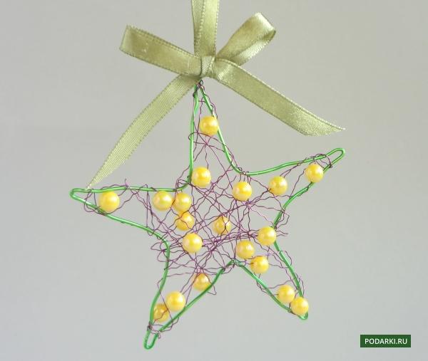 Новогодняя звезда изпроволоки