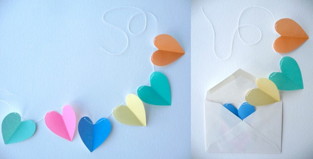 Валентинки своими руками из бумаги легкие