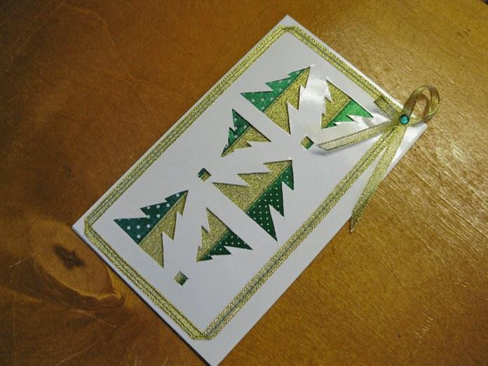 Новогодняя открытка «Ёлочки»