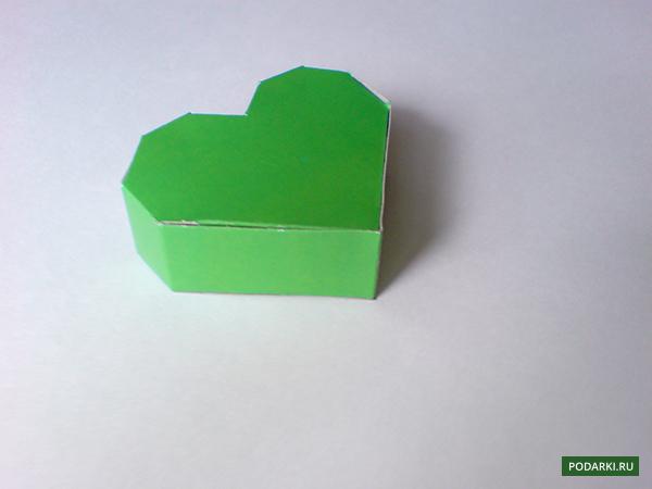Коробка без клея из картона схема