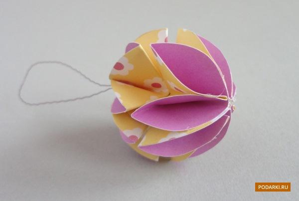 Ёлочная игрушка избумаги