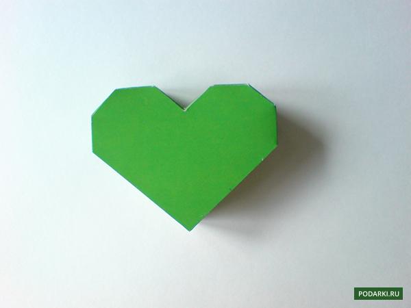 Коробочка с сердце своими руками из бумаги