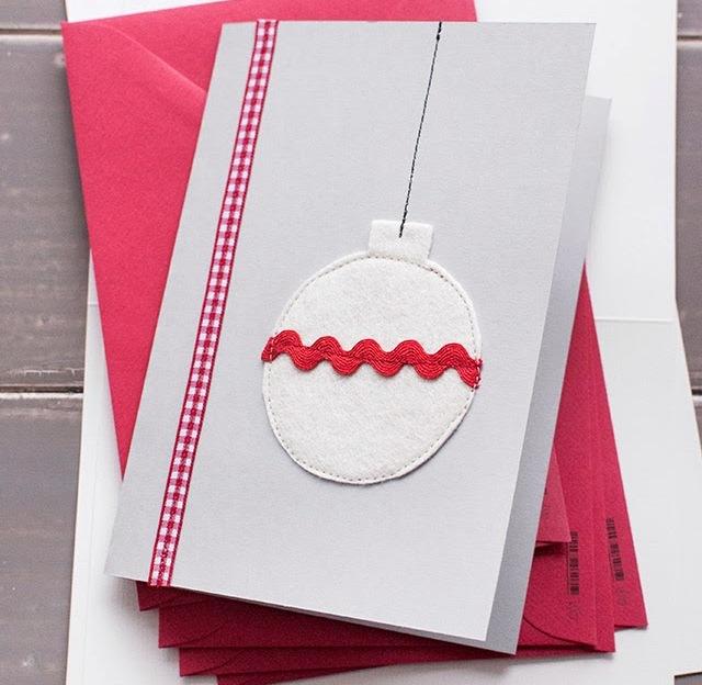 Простые открытки новый год