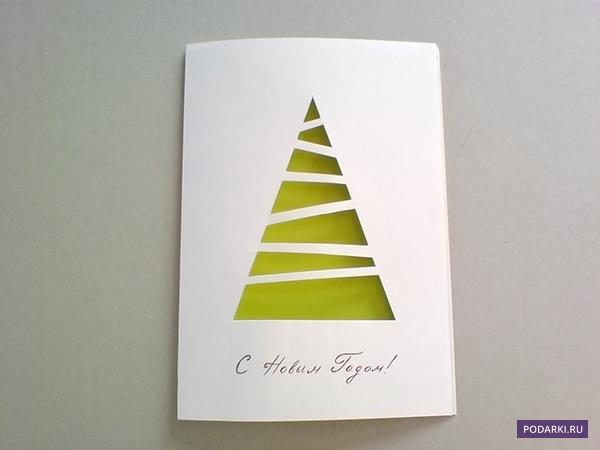 Легкая открытка своими руками новый год