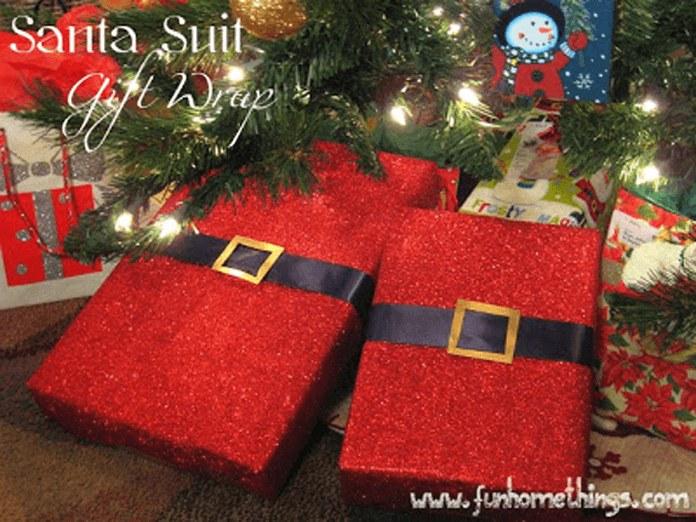 Упаковка подарков встиле Санты