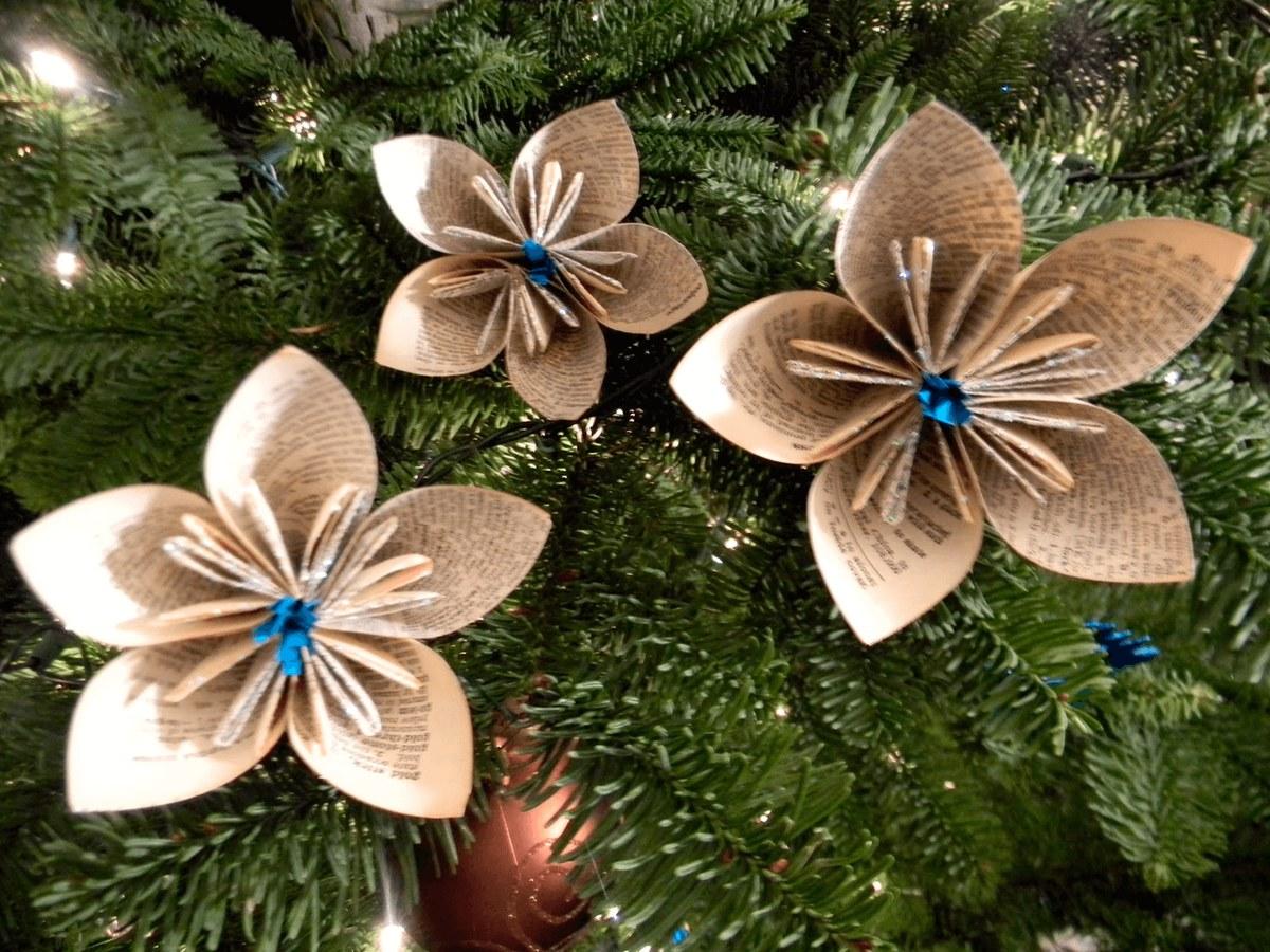 Как сделать новогодние цветы