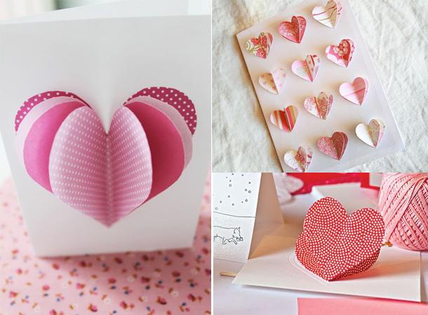 Идеи для валентинок из бумаги