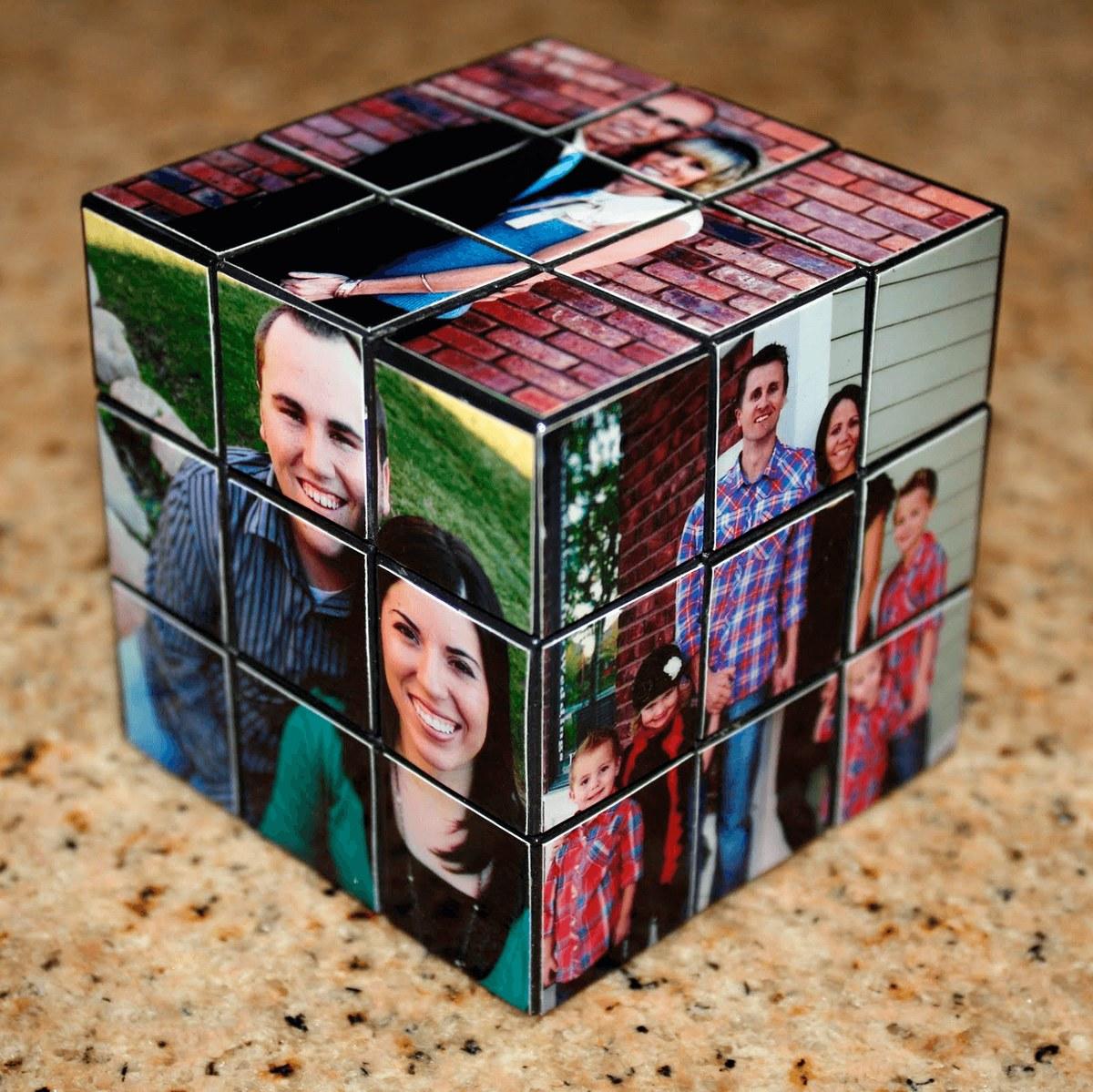 Кубик Рубика ссемейными фотографиями