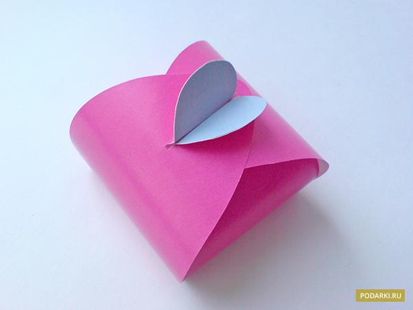 подарочная коробка сердечко своими руками
