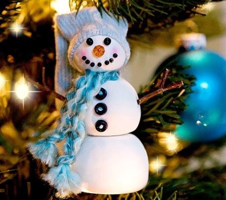 Ёлочная игрушка— снеговик