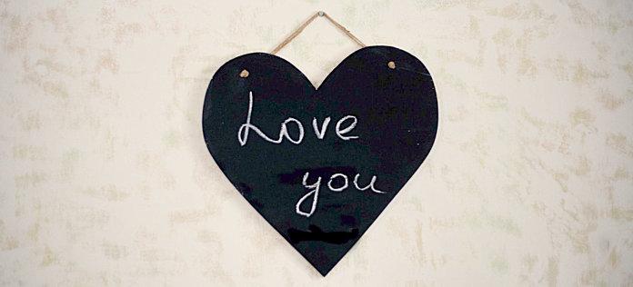 Грифельное сердце длялюбовных посланий