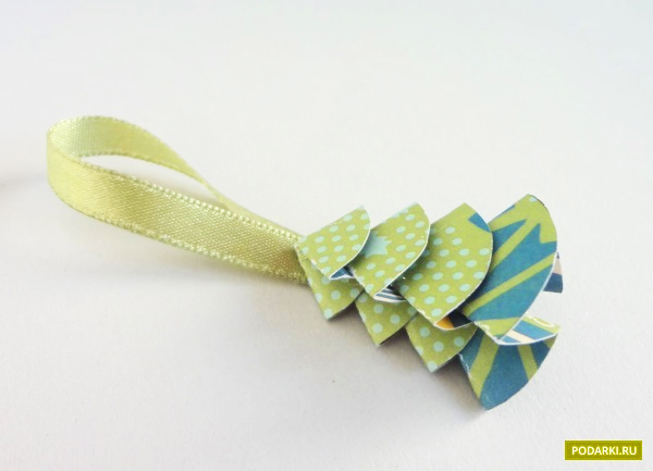 Поделки оригами на новый гПоделка из лент