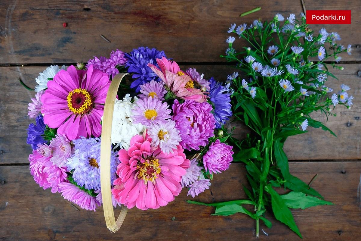 Букеты дачных цветов своими руками