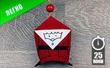 Дед Мороз из втулки от туалетной бумаги