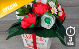 Декорируем цветами коробку Raffaello