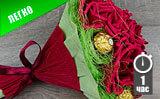 Букет роз из конфет. Часть 3