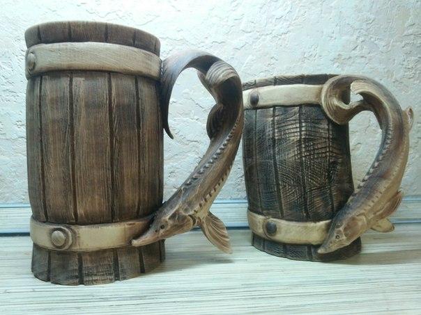 Пивные кружки из дерева