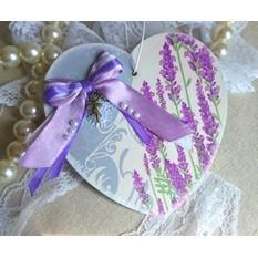 Настенное панно Лавандовое сердце