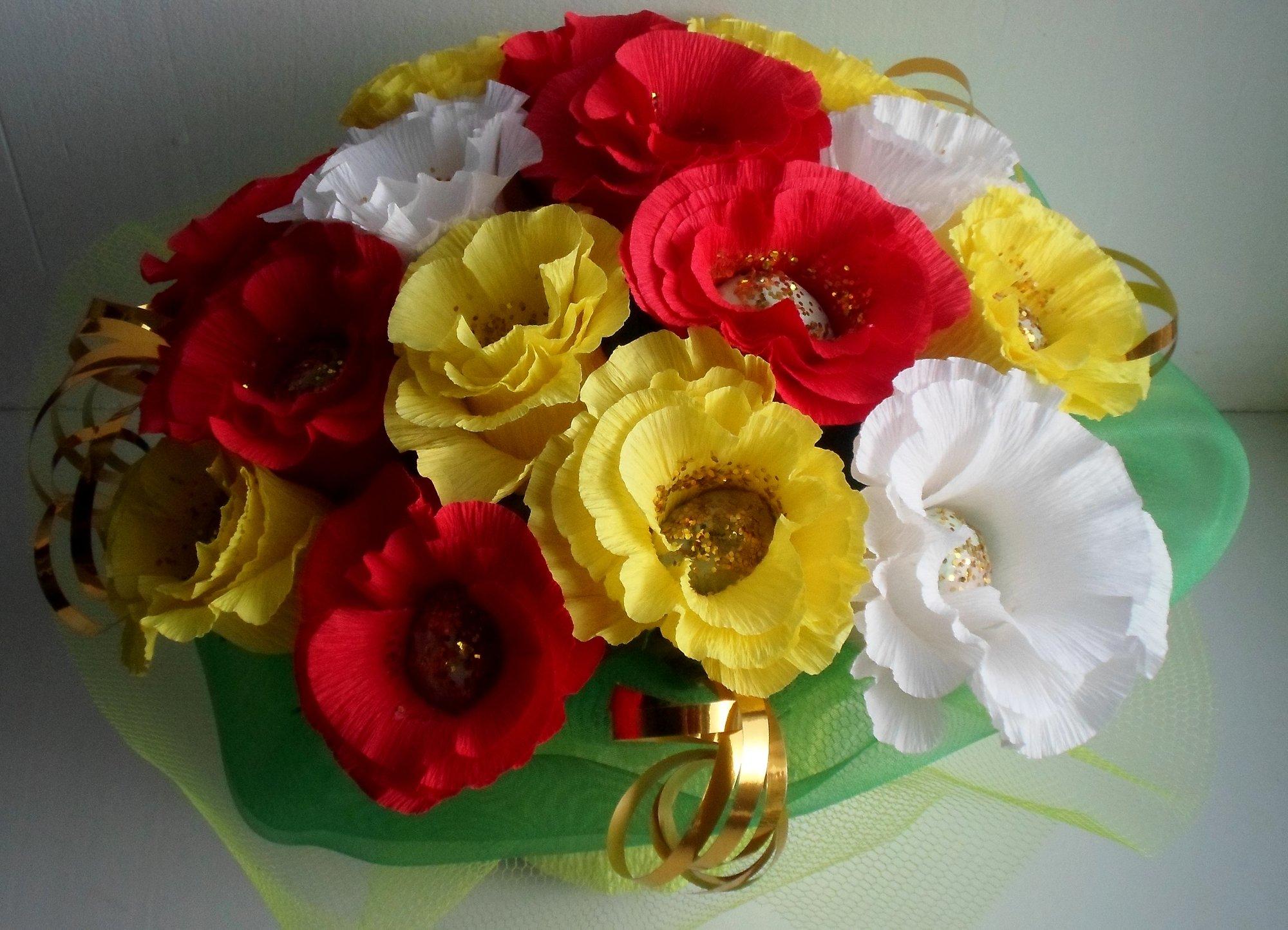 Поздравление к букету из конфет на свадьбу ркупить розы