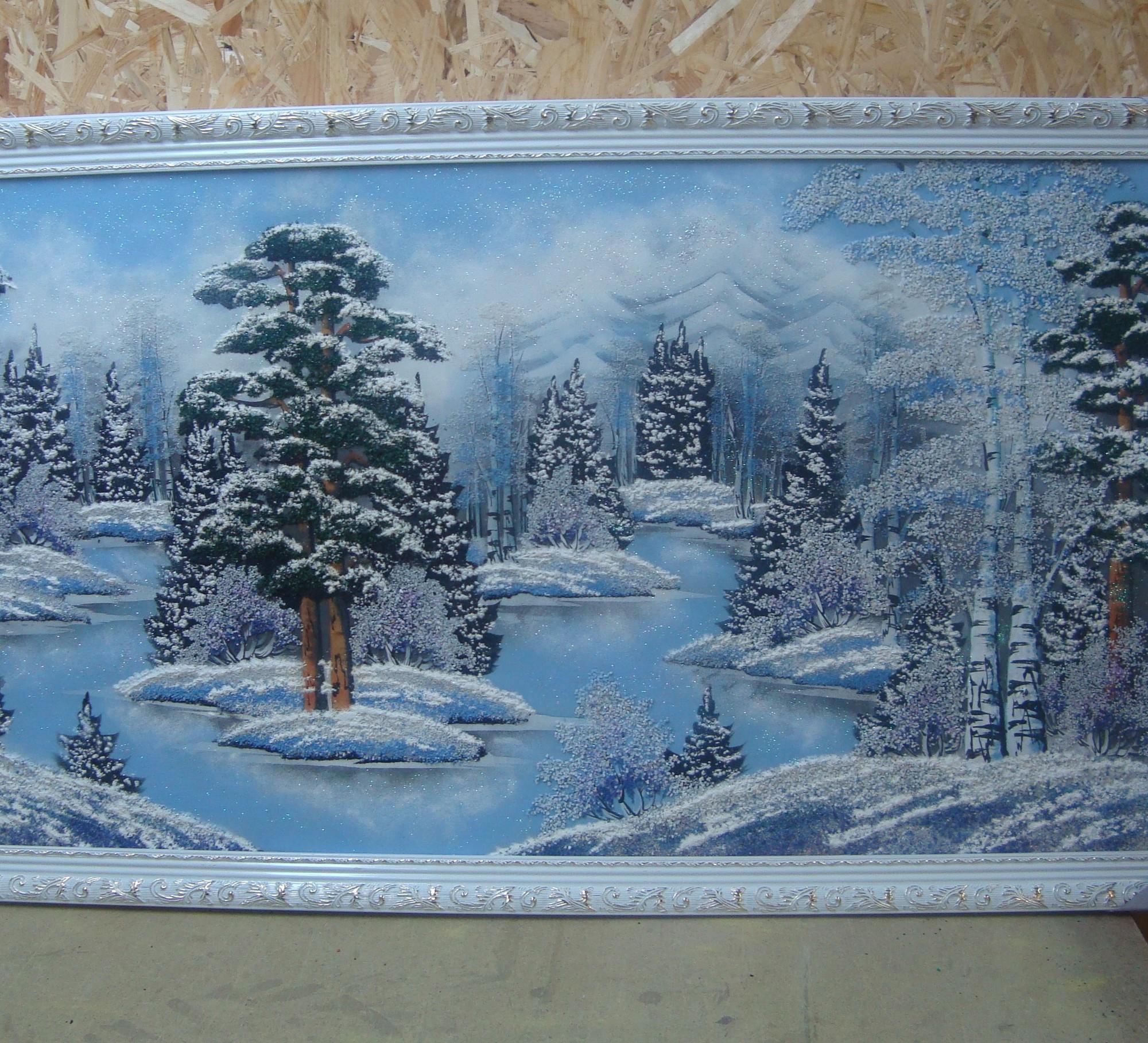 Картины с каменной крошкой своими руками 384