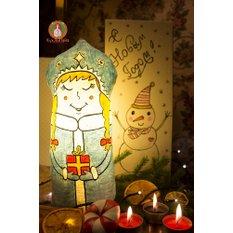 Новогодний светильник Снегурочка