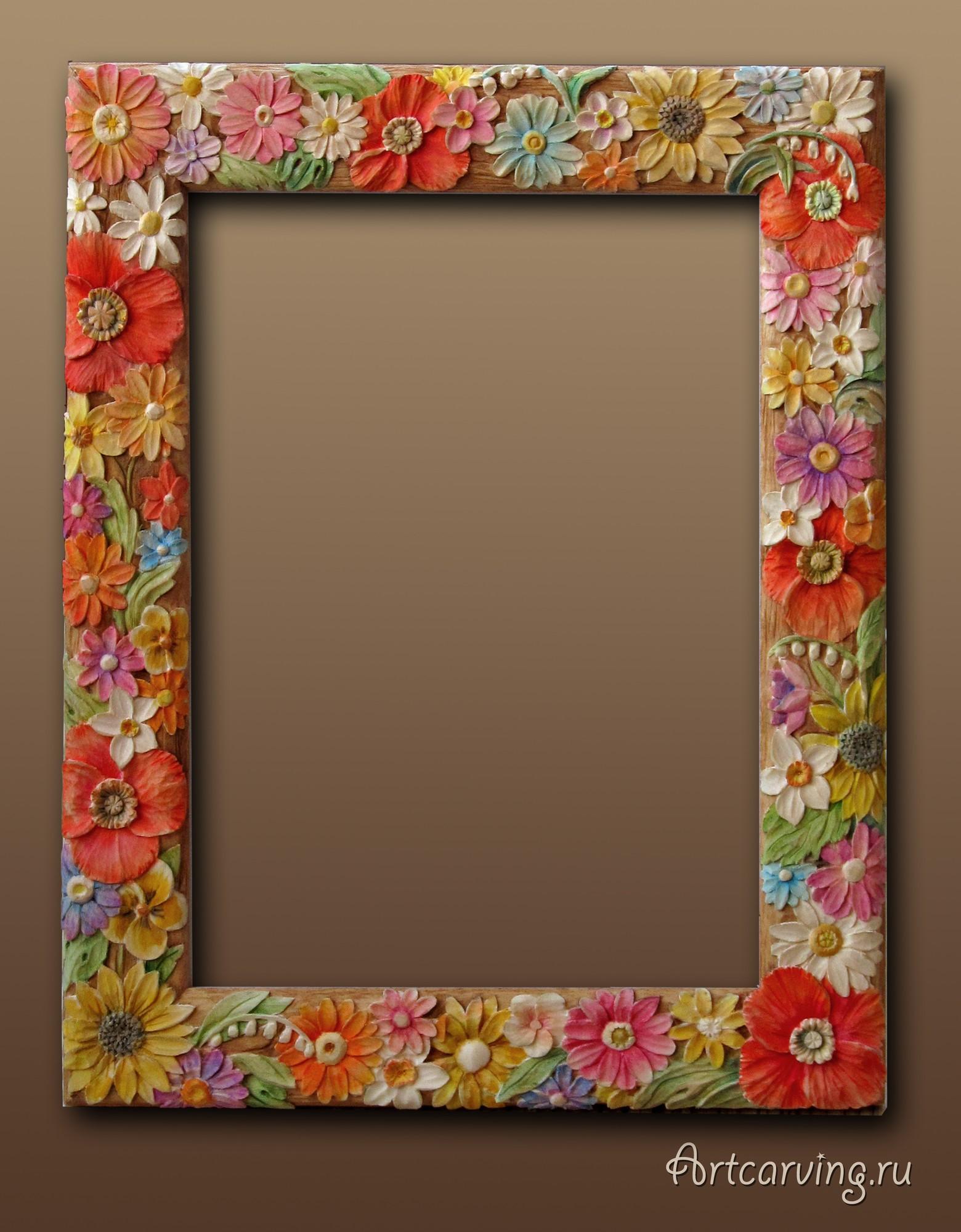 Рамки для своими руками с цветами