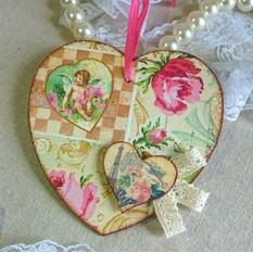 Сердечко-Валентинка в винтажном стиле