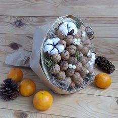 Букет из грецких орехов своими руками 23