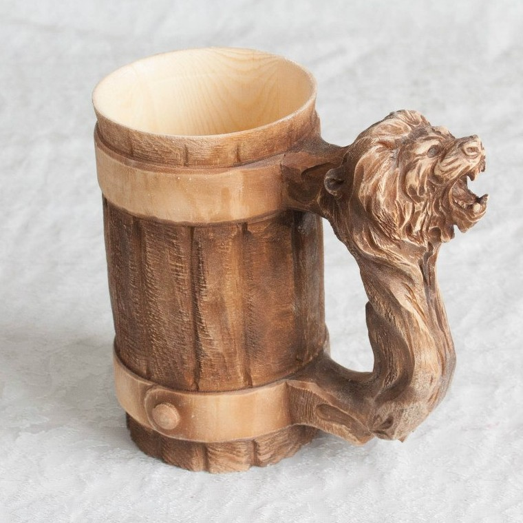 Кружка пивная из дерева своими руками