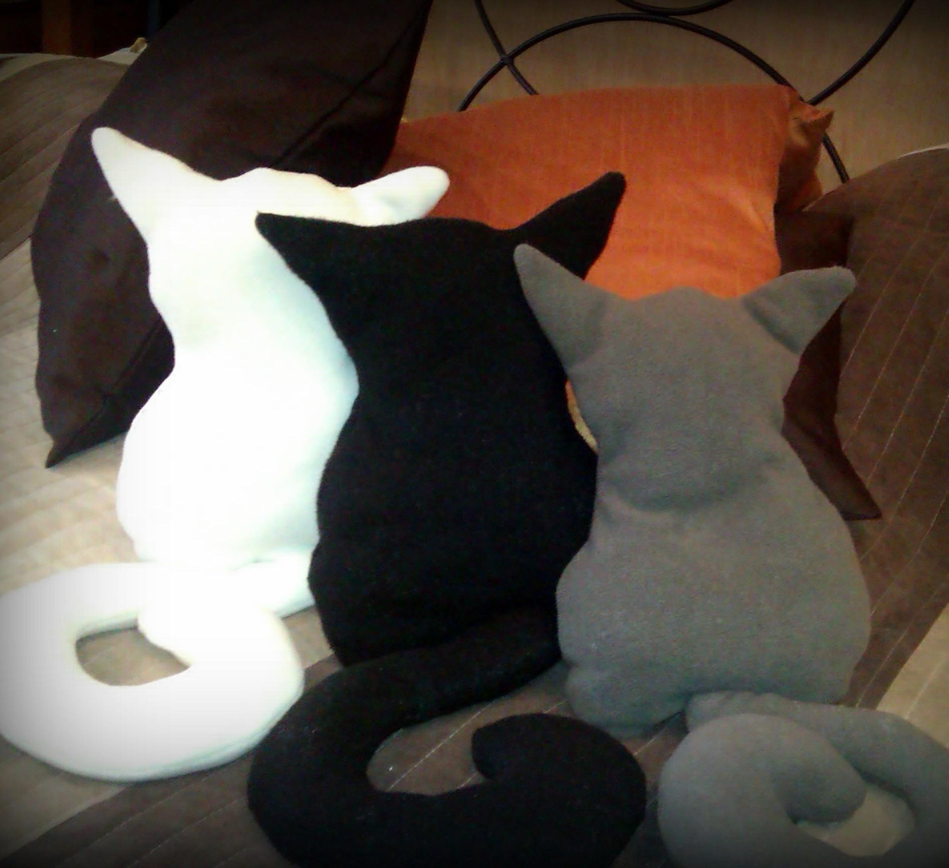 Декоративные подушки кошки своими руками выкройки фото схемы 79