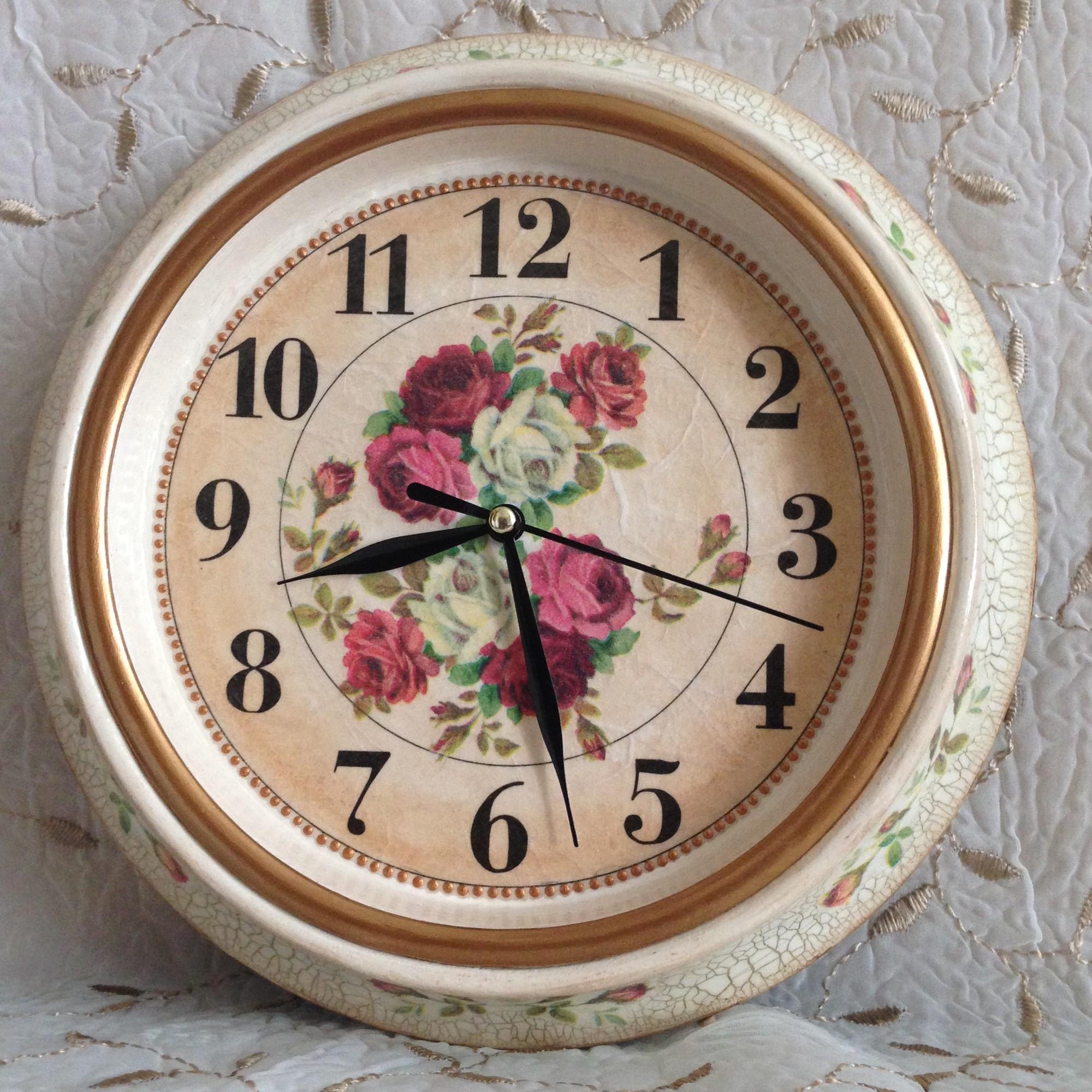 Винтажные настенные часы своими руками 67