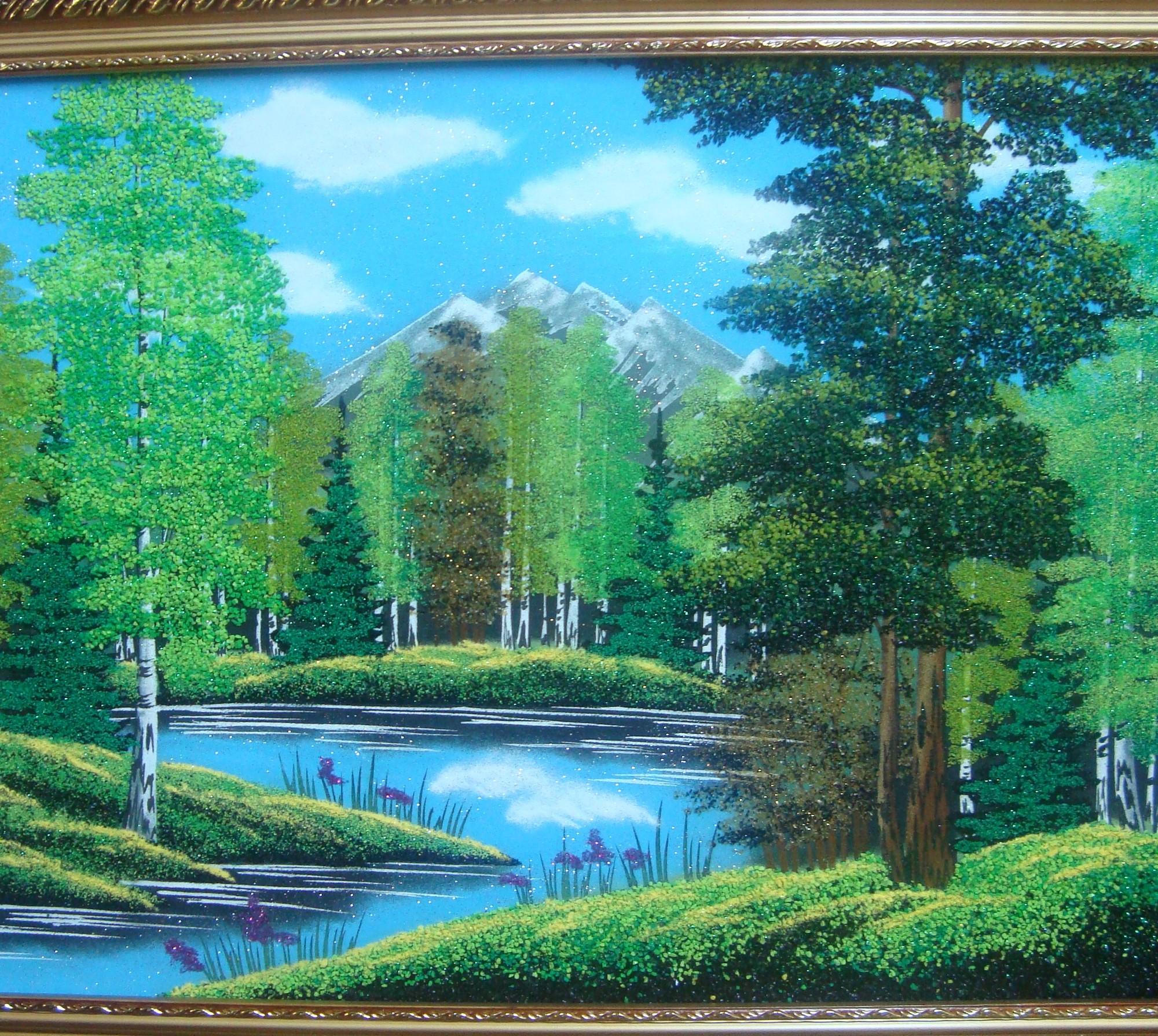 Картины с каменной крошкой своими руками 507