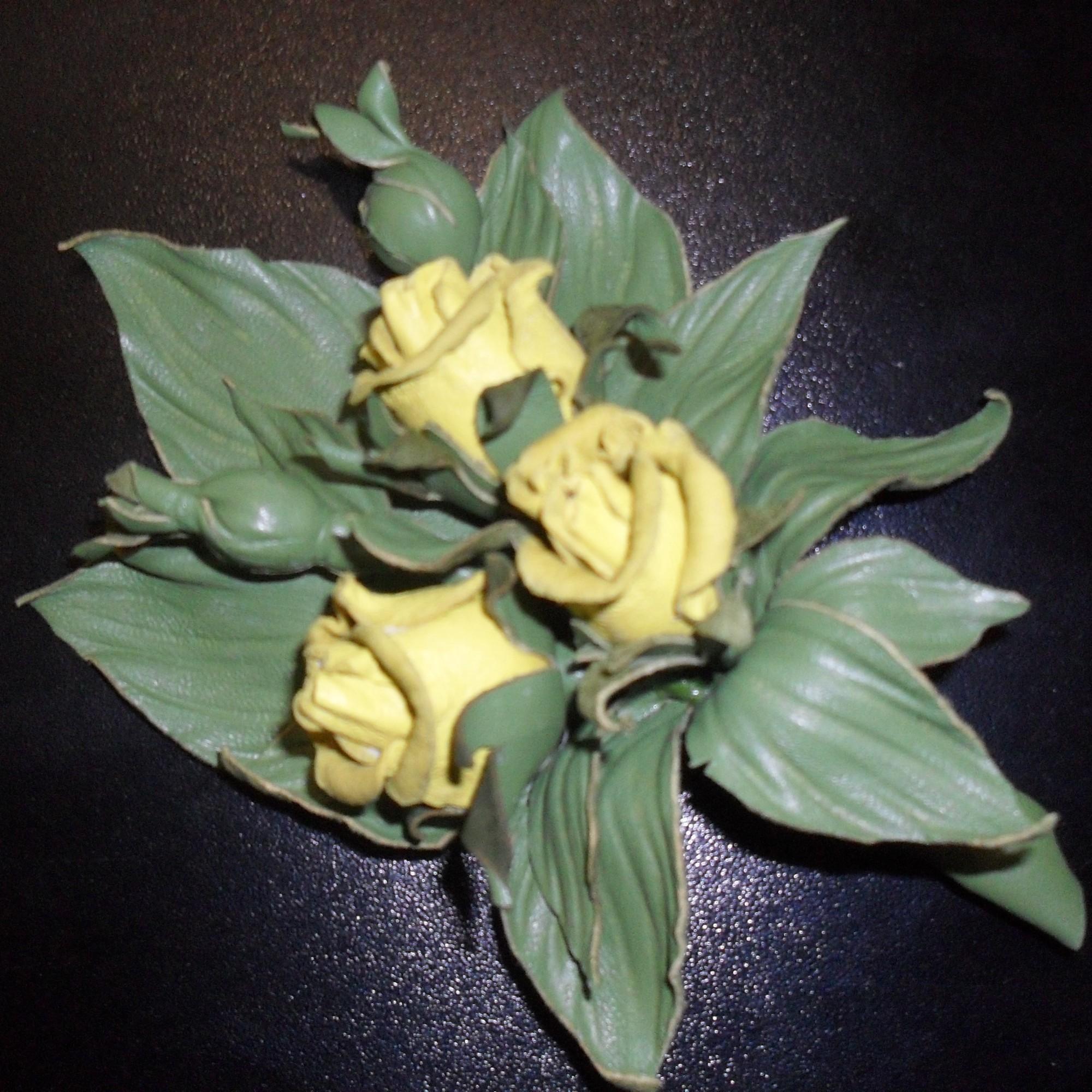 Кожаные цветы своими руками фото