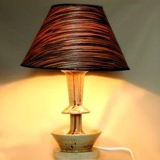 Светильник ручной работы из дерева (берёза) и шпона
