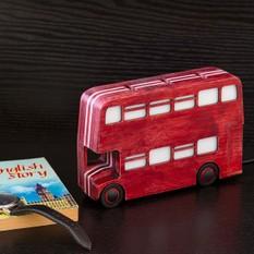 Ночник Лондонский автобус бордовый
