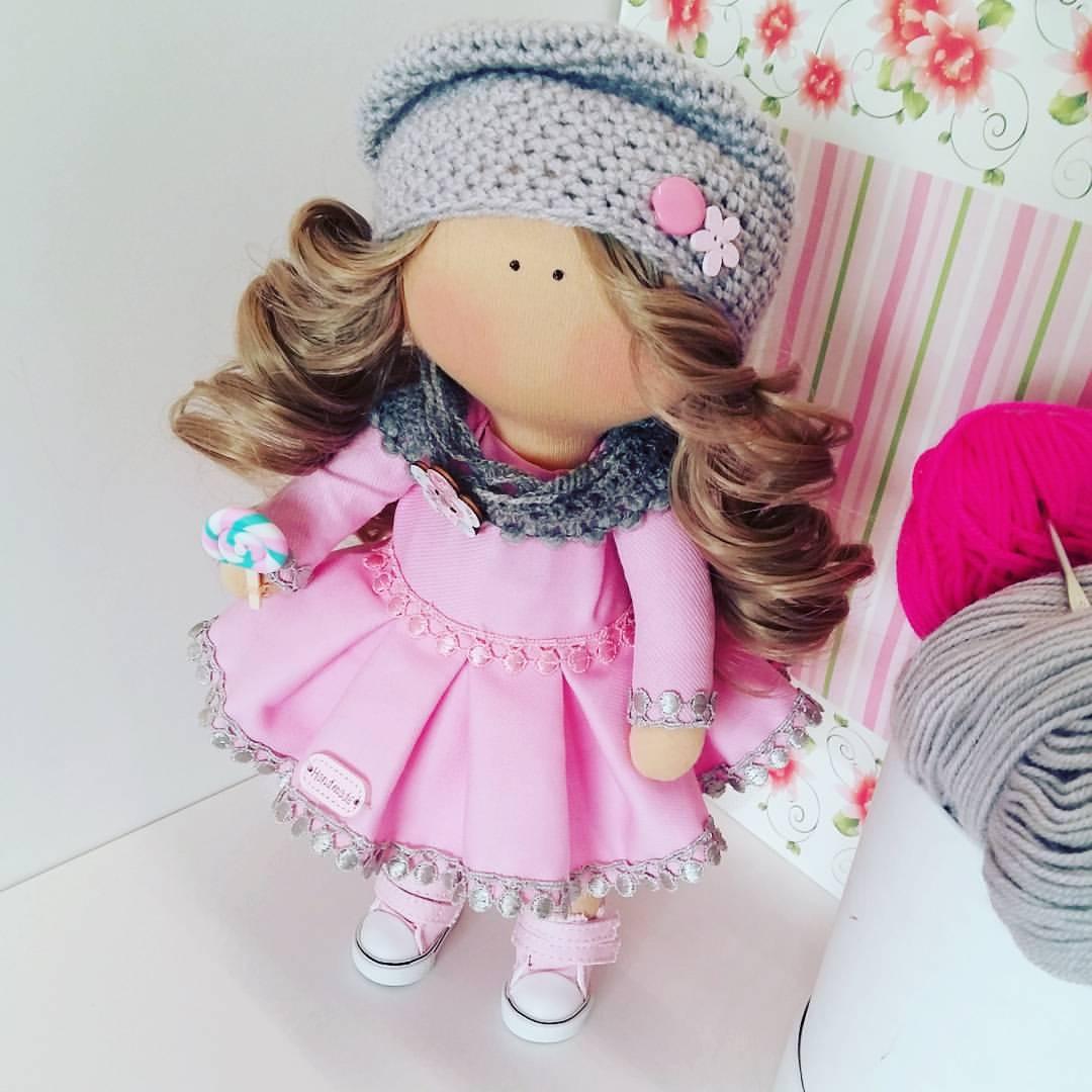 Интерьерная куколка своими руками 57
