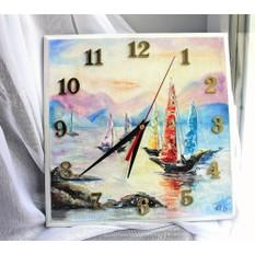 Часы-картина Закат в море