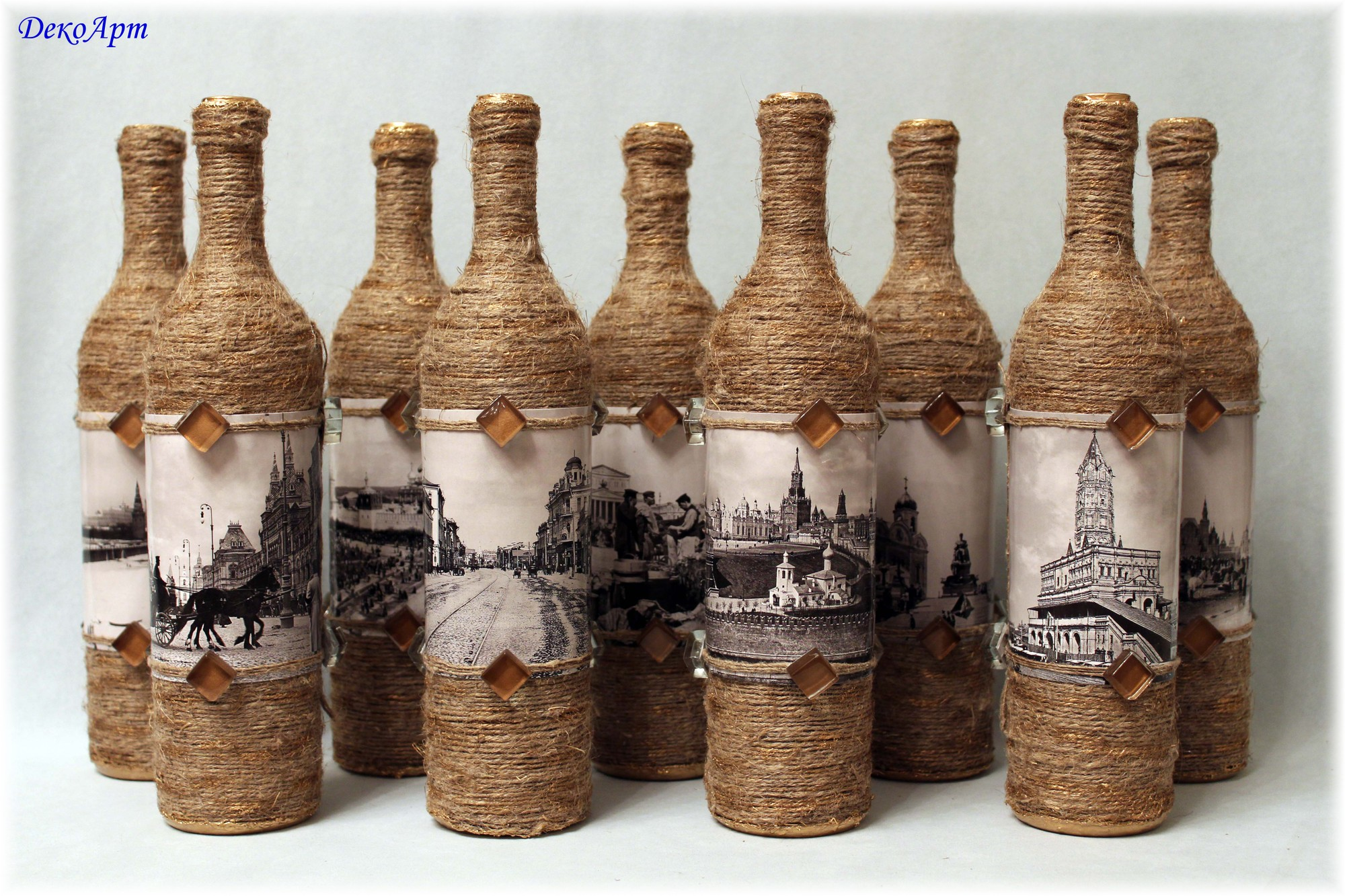 Декоративные бутылки своими руками для тех