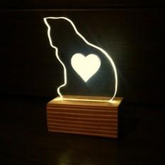 Светильник-валентинка Любимому котёнку