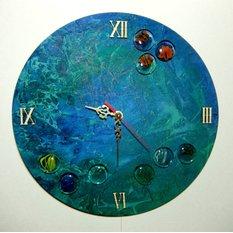 Настенные часы ручной работы Притяжение моря