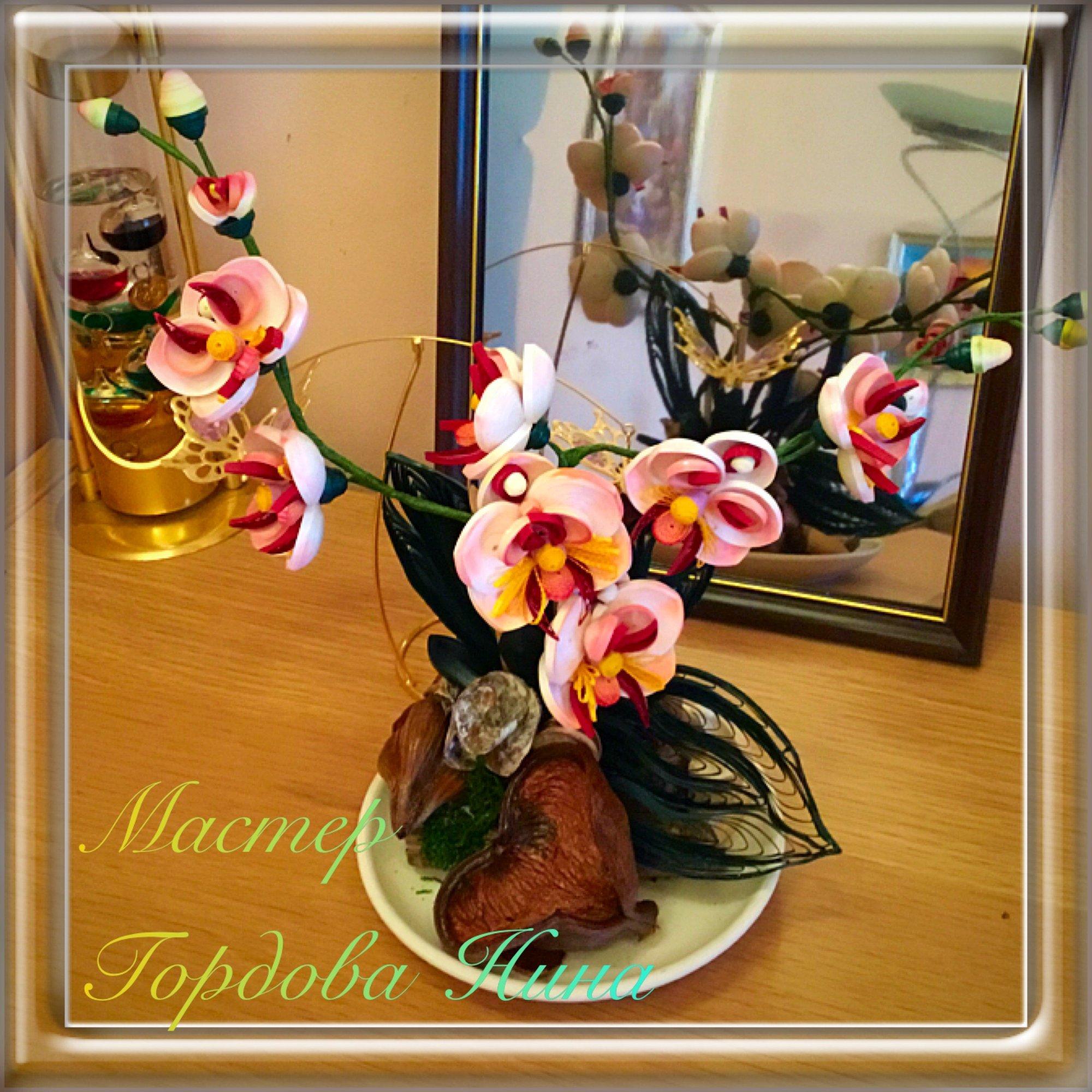 Композиция из орхидей своими руками фото
