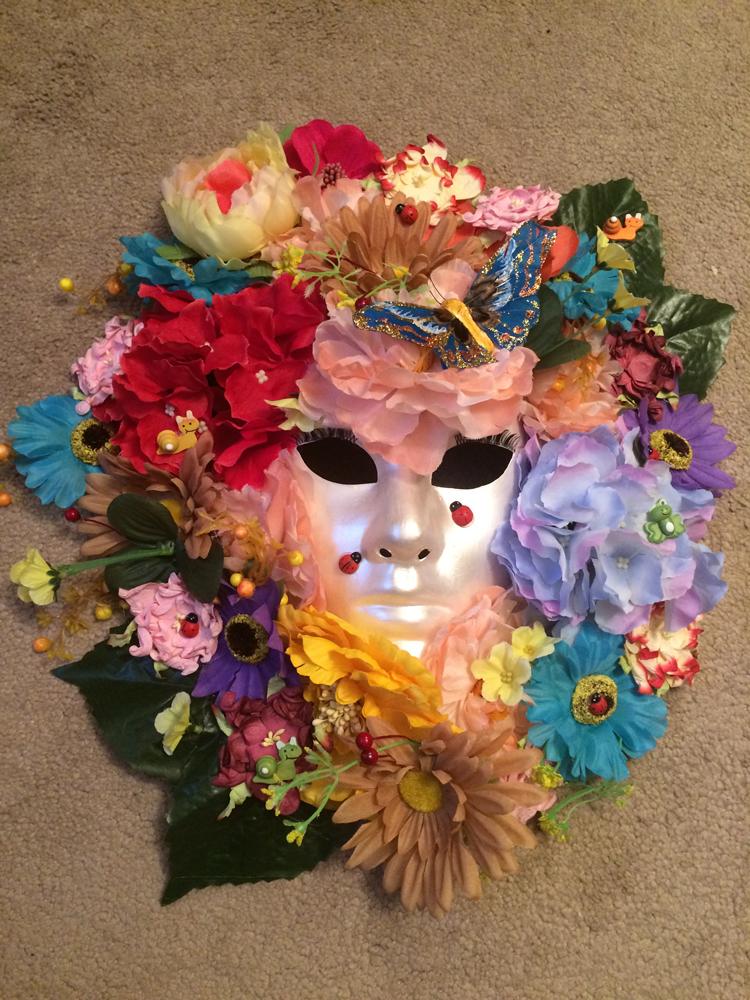 Интерьерная маска своими руками