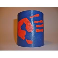 Кожаный браслет «Отпечаток ладони»