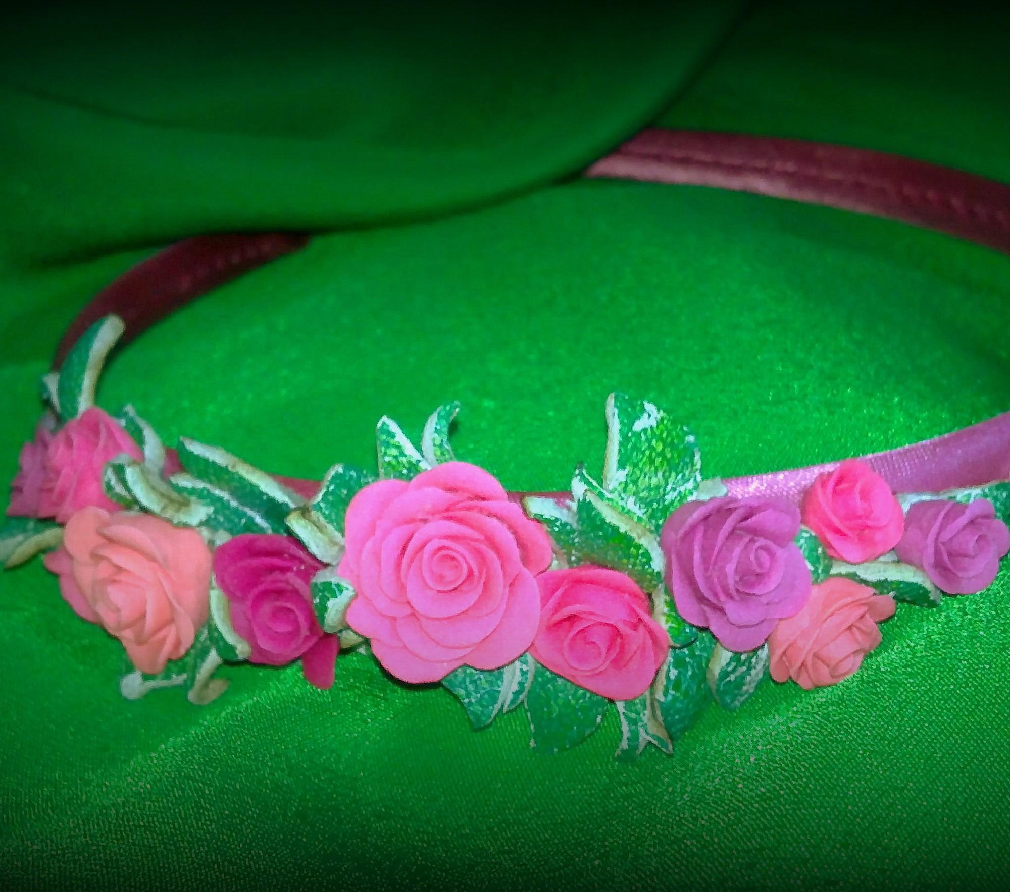 Ободок из фоамирана своими руками Цветы из фоамирана 67