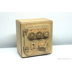 Авторская копилка сейф из дерева с кодовым замком