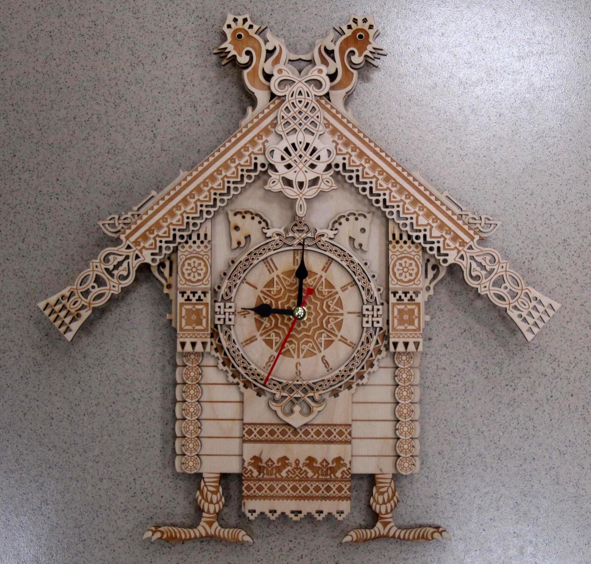 Часы домиком своими руками