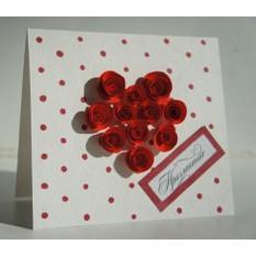 Приглашение «Сердце из роз»