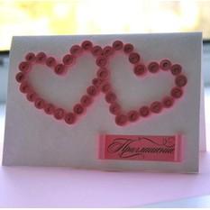 Приглашение «Влюбленные сердца»